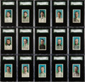 "Baseball Cards:Sets, 1910-11 M116 Sporting Life ""Blue Background"" High End Complete Set(24). ..."