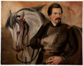 Political:3D & Other Display (pre-1896), George McClellan: Impressive Oil on Canvas. ...