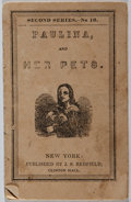 Books:Americana & American History, [Redfield's Toy Books]. Paulina and Her Pets. Redfield, [n.d.]. Minor wear and soil to wrappers. Pages toned. Threa...
