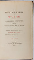 Books:Americana & American History, William L. Stone. The Poetry and History of Wyoming.Munsell, 1864. Third edition. Spine perished and boards detache...