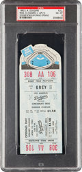 Baseball Collectibles:Tickets, 1962 Opening of Dodger Stadium Full Ticket PSA NM-MT 8....