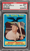 Baseball Cards:Singles (1950-1959), 1959 Topps Mickey Mantle AS #564 PSA NM-MT+ 8.5....