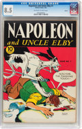 Golden Age (1938-1955):Cartoon Character, Napoleon and Uncle Elby #1 Denver pedigree (Eastern Color, 1942)CGC VF+ 8.5 Off-white to white pages....
