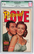 Golden Age (1938-1955):Romance, Personal Love #24 (Famous Funnies, 1953) CGC Qualified FN/VF 7.0Cream to off-white pages....