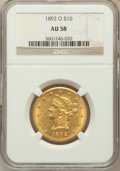 Liberty Eagles: , 1892-O $10 AU58 NGC. NGC Census: (97/604). PCGS Population(67/359). Mintage: 28,688. Numismedia Wsl. Price for problem fre...