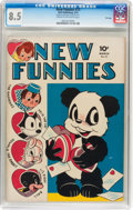 Golden Age (1938-1955):Funny Animal, New Funnies #73 File Copy (Dell, 1943) CGC VF+ 8.5 Cream tooff-white pages....