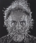 Works on Paper, CHUCK CLOSE (American, b. 1940). Lucas Paper/Pulp, 2006. Stenciled handmade paper in colors. 48 x 40 inches (121.9 x 101...