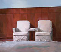 LIU WEIJIAN (Chinese, b. 1981) Two Leaders, 2006 Acrylic on canvas 47-1/4 x 55-1/4 inches (120.0