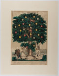 Books:Prints & Leaves, N. Currier. Nineteenth-Century Hand-Colored Lithograph EntitledThe Tree of Life. Approx. 14 x 10 inches. Some biopr...