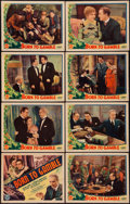 "Movie Posters:Adventure, Born to Gamble (Liberty Pictures, 1935). Lobby Card Set of 8 (11"" X14""). Adventure.. ... (Total: 8 Items)"