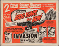 "Movie Posters:Science Fiction, 1000 Years from Now/Invasion USA Combo (American Picture Co.,R-1956). Half Sheet (22"" X 28""). Science Fiction.. ..."