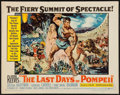 "Movie Posters:Adventure, The Last Days of Pompeii (United Artists, 1960). Half Sheet (22"" X28""). Adventure.. ..."