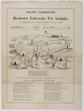 Books:Americana & American History, [Circus Spoof]. Grand Exhibition of Rochester University PetAnimals. Hicockolorum Bros., 1868. Approx. 4 pages ...