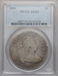 Early Dollars: , 1800 $1 AG3 PCGS. PCGS Population (4/1012). NGC Census: (0/830).Mintage: 220,920. Numismedia Wsl. Price for problem free N...