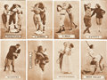 Baseball Cards:Sets, 1910's Colonial Art Risque Baseball, Football & Tennis Post Card Collection (23). ...