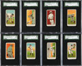 Baseball Cards:Lots, 1911-16 Kotton Cigarettes SGC-Graded Collection (8). ...