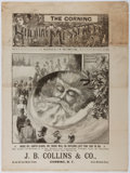 Books:Americana & American History, [Christmas]. J. B. Collins [editor]. The Holiday Messenger.Collins, 1892. [8] pages on a folded, uncut sheet. H...
