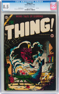 Golden Age (1938-1955):Horror, The Thing! #17 (Charlton, 1954) CGC VF+ 8.5 Cream to off-whitepages....
