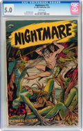 Golden Age (1938-1955):Horror, Nightmare #13 (St. John, 1954) CGC VG/FN 5.0 White pages....