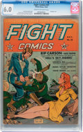 Golden Age (1938-1955):War, Fight Comics #21 (Fiction House, 1942) CGC FN 6.0 Cream tooff-white pages....