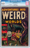 Golden Age (1938-1955):Horror, Adventures Into Weird Worlds #1 (Atlas, 1952) CGC VG 4.0 Cream tooff-white pages....