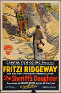 """Movie Posters:Western, The Sheriff's Daughter (Capital Film Co., 1920). One Sheet (27.75"""" X 42""""). Western.. ..."""