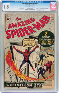 The Amazing Spider-Man #1 (Marvel, 1963) CGC GD- 1.8 Off-white to white pages