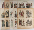 Books:Prints & Leaves, Vintage History of Clothing Color Illustrations. From ZurGeschichte der Kostüme (The History of Dress) by Louis Braun,...