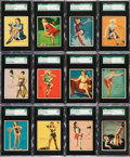 "Non-Sport Cards:Sets, 1941 R59 ""American Beauties"" Near Set (23/24) - #1 on the SGC SetRegistry. ..."