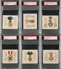"""Non-Sport Cards:Sets, 1890 N44 Allen & Ginter """"The World's Decorations"""" PSA-GradedCollection (14). ..."""
