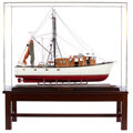 Maritime:Decorative Art, SCALE MODEL OF THE SHRIMP TRAWLER 'HIGH PLAINS DRIFTER'. A superband large scale model of the shrimp trawler 'High Plains D...