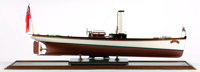 WORKING SCALE MODEL OF THE STEAM LAUNCH 'BAT' A superb example of the work of Keith Townsend of Anna, Dumfrieshire