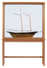 SHIP MODEL OF THE SCHOONER 'DOVE' A scratch-built model of a Victorian vessel with brass-clad hull. Presented i