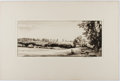 Books:Prints & Leaves, Malcolm Osborne. Signed Original Etching Entitled The ValleyFarm. Approx. 10.75 x 17.5 inches. Matted. Fine....