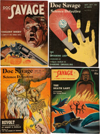 Doc Savage Digest-Format Box Lot (Street & Smith, 1944-48) Condition: Average VG+