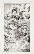 Original Comic Art:Splash Pages, Mike Perkins Marvel Holiday Special #1 Fantastic Four Page 7Original Art (Marvel, 2006)....