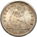 Seated Quarters, 1877-CC 25C MS65 PCGS....