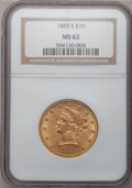 Liberty Eagles: , 1885-S $10 MS62 NGC. NGC Census: (259/76). PCGS Population(254/89). Mintage: 228,000. Numismedia Wsl. Price for problem fr...