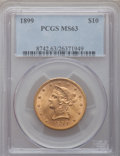 Liberty Eagles: , 1899 $10 MS63 PCGS. PCGS Population (1950/380). NGC Census:(5416/1507). Mintage: 1,262,305. Numismedia Wsl. Price for prob...