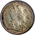 Canada: Edward VII 5 Cents 1904, KM13, MS64 ICCS. Greenish-gold toning in the central areas with steel-blue highlights a...