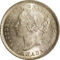Canada: Victoria 10 Cents 1880H Obverse 1, KM3, MS64 ICCS, a superb fully lustrous coin with unusually problem free surf...
