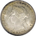 Canada: Victoria 25 Cents 1870, Obverse 1, KM5, MS64 ICCS. Sharply struck and brilliant with a touch of light golden ton...