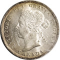Canada: Victoria 25 Cents 1894, KM5, MS64 ICCS. A near flawless strike with full luster and light golden toning. From th...