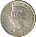 Canada: Victoria 25 Cents 1900, KM5, MS64 ICCS. Shimmering mint luster with fully struck devices and a hint of golden to...