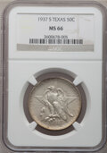Commemorative Silver: , 1937-S 50C Texas MS66 NGC. NGC Census: (445/98). PCGS Population(439/81). Mintage: 6,637. Numismedia Wsl. Price for proble...