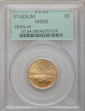 Modern Issues: , 1995-W G$5 Olympic/Stadium Gold Five Dollar MS69 PCGS. PCGSPopulation (1683/169). NGC Census: (365/500). Numismedia Wsl. ...