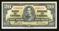Canadian Currency: , BC-25c $20 1937. ...