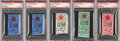 Baseball Collectibles:Tickets, 1912 Fenway Park Inaugural Season Boston Red Sox Ticket Stubs Lotof 5....