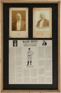 "Baseball Collectibles:Photos, 1912 Adrian ""Cap"" Anson Cabinet Photography Display...."