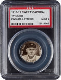 Baseball Cards:Singles (Pre-1930), 1910-12 P2 Sweet Caporal Pins Ty Cobb, Small Letters PSA Mint 9....